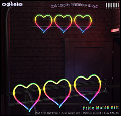 [ bubble ] Tri-Heart Rainbow Neon - Pride Month Gift