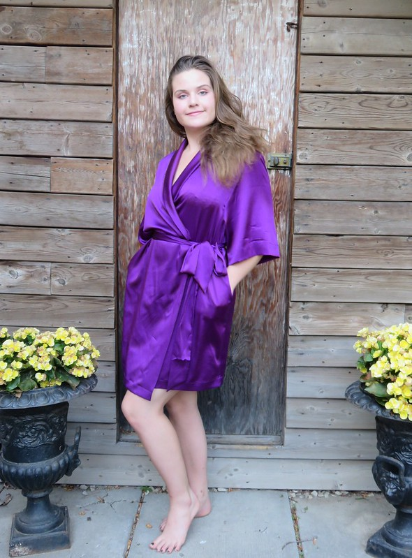 V8888 purple silk