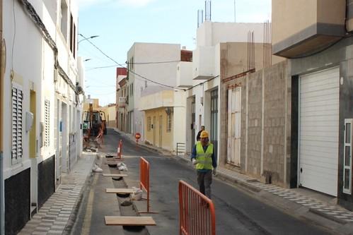 Imagen de archivo de las obras de renovación de la red de abastecimiento de aguas en la calle Verbena, en Montaña Los Vélez