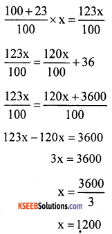 KSEEB Solutions for Class 8 Maths Chapter 9 Commercial Arithmetic Additional Questions 3