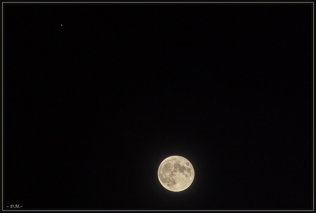 _ Moon and Jupiter _