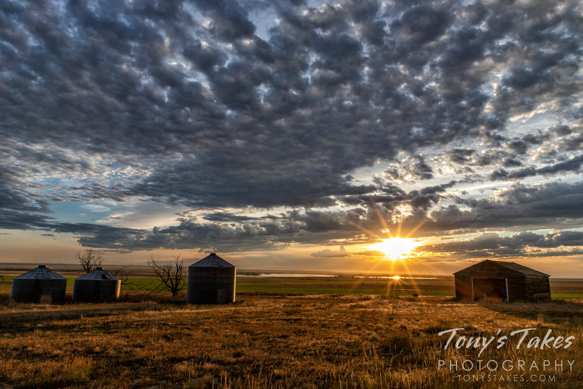 Sunrise at the old farmstead