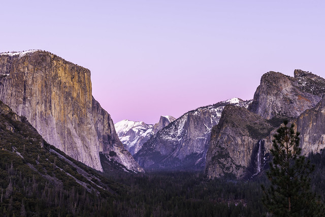 Iconic view in Yosemite national park