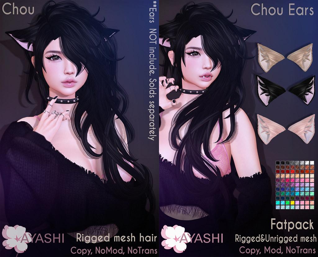 [^.^Ayashi^.^] Chou hair & Ears special for Black Fair