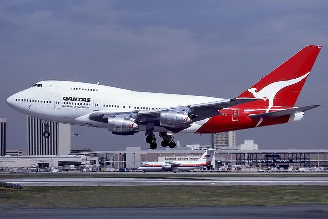 VH-EAB - Boeing 747-SP38 - QANTAS - KLAX - Mar 1990
