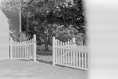 White fence, end of roll