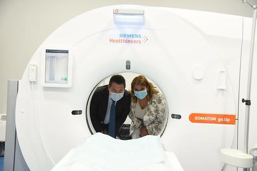 Visita al nuevo TAC del hospital Nuestra Señora del Prado