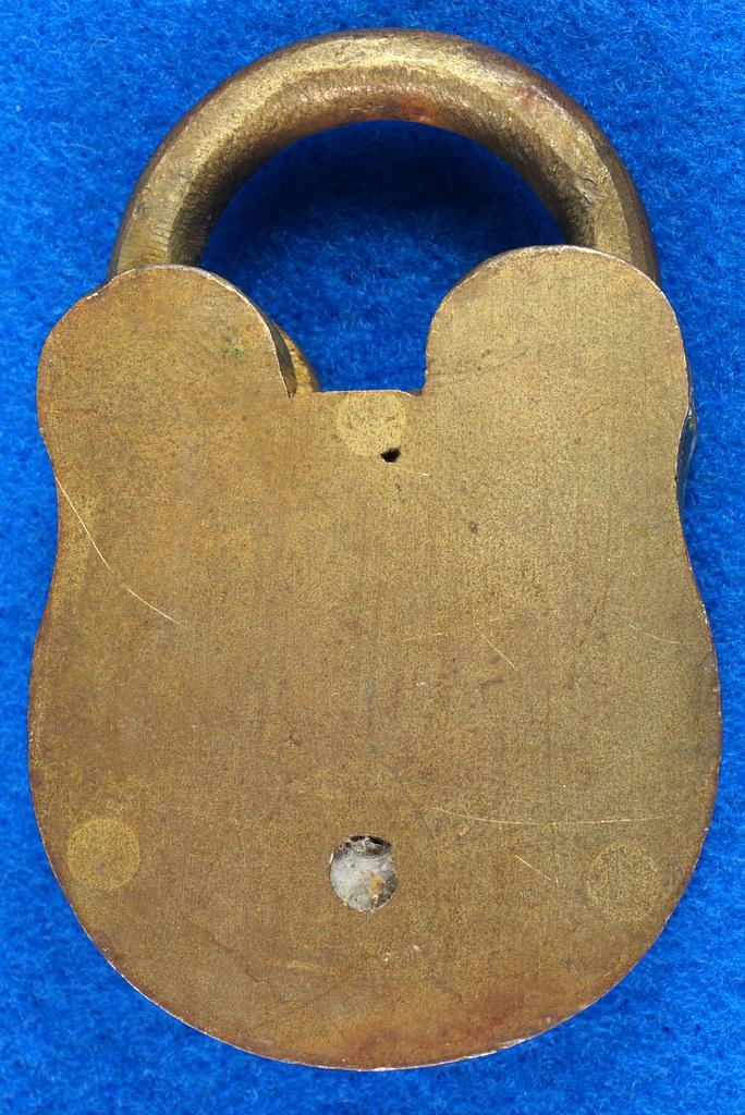 RD30529 Antique Brass Padlock Jewel Lock 1945 GT10Y.S  R Logo DSC08887
