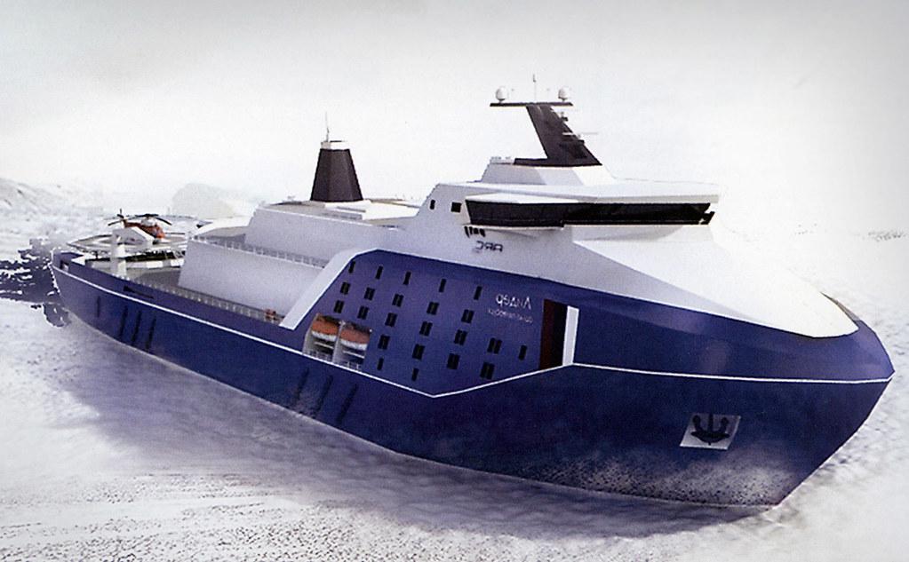 Началось строительство самого мощного в мире атомного ледокола «Россия» 5