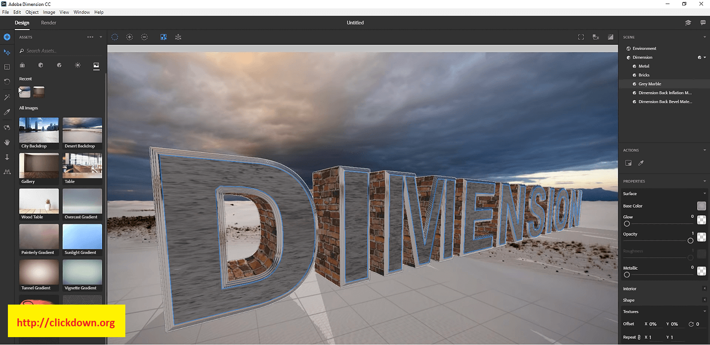 Working with Adobe Dimension 2020 v3.3 full license