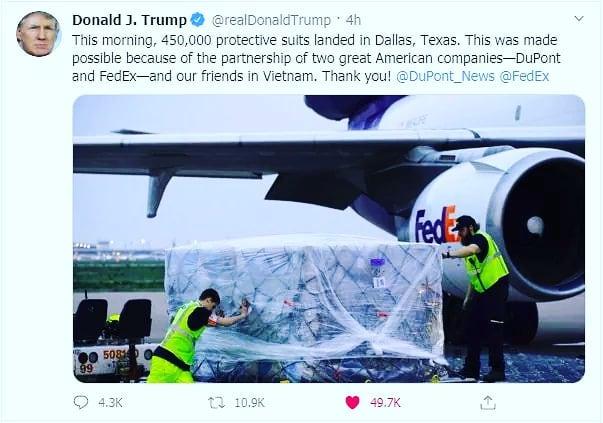 ドナルド・トランプ米大統領のツイッター