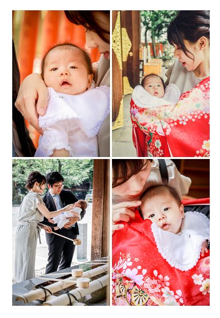 お宮参り 誰が赤ちゃんを抱っこ? ママ抱っこ♪