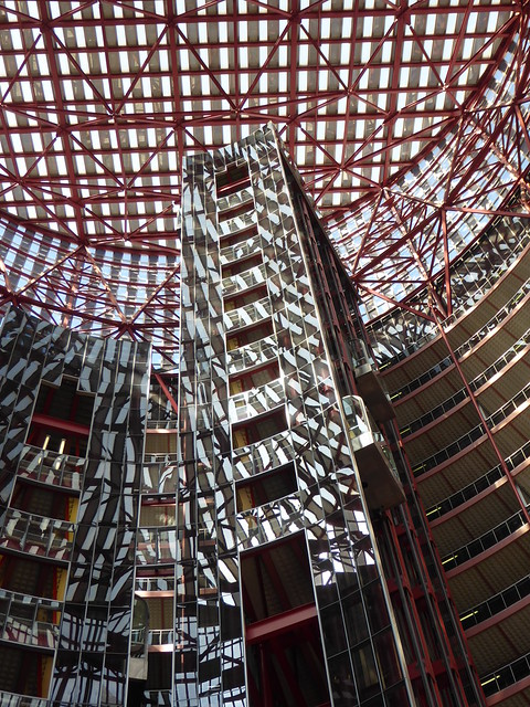 Chicago, Thompson Center, Atrium, Abstract (Architect: Helmut Jahn)