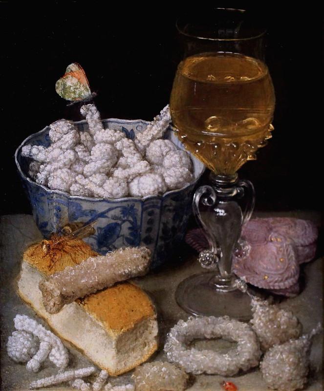 IMG_6065 Georg Flegel. 1566-1638.  Frankfurt am Main  Nature morte avec pain et sucreries.  Still life with bread and sweets. 1637.   Francfort Städelmuseum.
