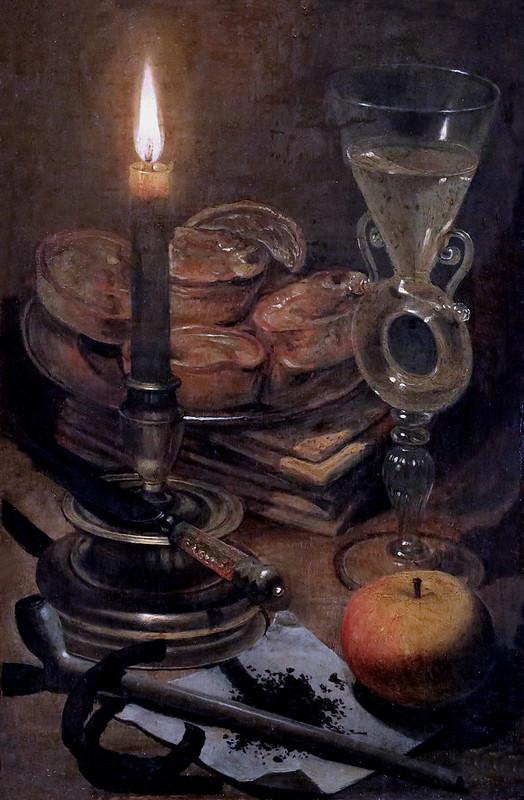 IMG_7236 Georg Flegel. 1563-1638. Francfort sur le Main.  Nature morte à la chandelle.  Still Life with a Burning Candle. 1631. Cologne Wallraf Richartz Museum.