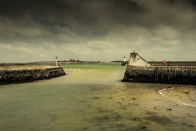 The old harbour of Saint Vaast La Hougue (Normandy)