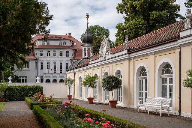 Leipzig, Gohliser Schlösschen: Westlicher Anbau, ehemals Orangerie - Leipzig, Gohlis Manor: West annex, former orangery