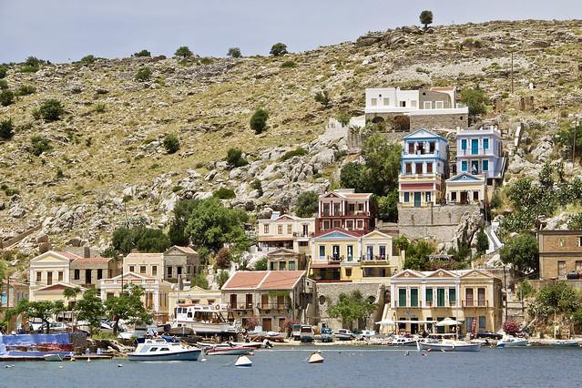 Simi, sur l'île de Simi dans le Dodécanèse, Grèce.
