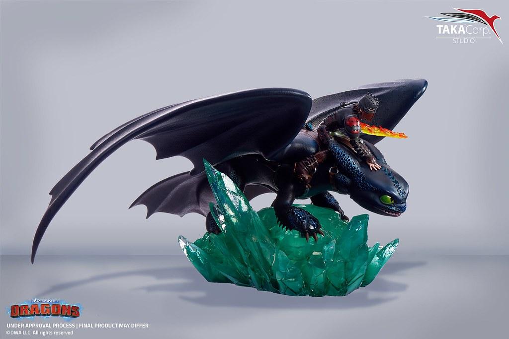 一起寫下博克島傳奇的最佳搭檔!Taka Corp Studio《馴龍高手》小嗝嗝 & 沒牙 1/6比例 限量場景雕像(Krokmou & Harold - Dragons)