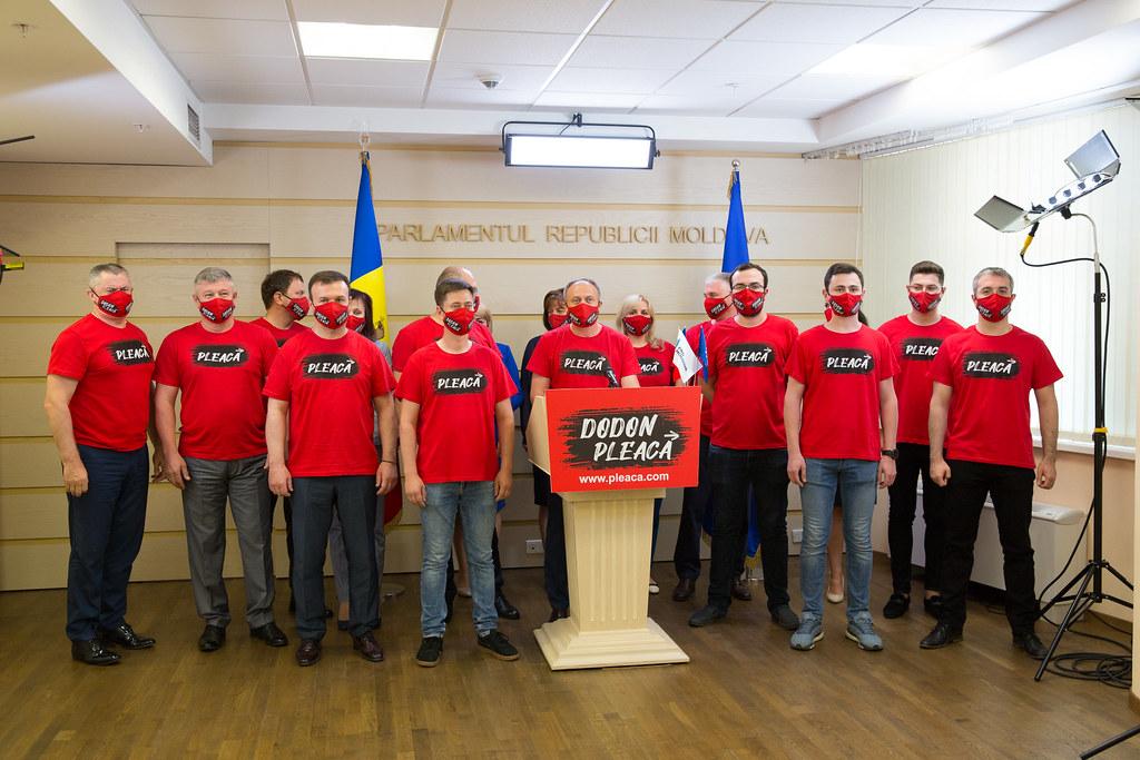 06.07.2020 Briefing de presă al deputaților Grupului parlamentar Pro Moldova