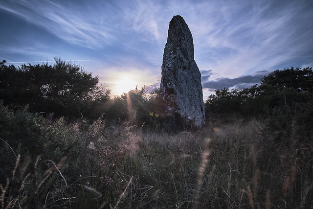 Dusk with the Menhir