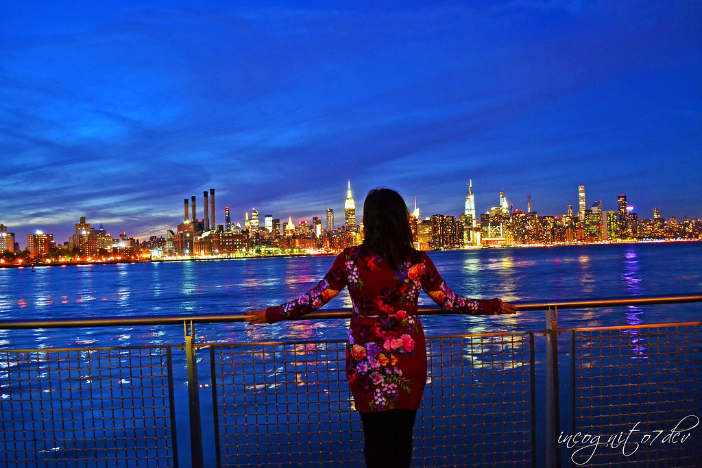 Blue Hour Midtown Manhattan View from North 5th St Pier Brooklyn New York City NY P00580 DSC_1534
