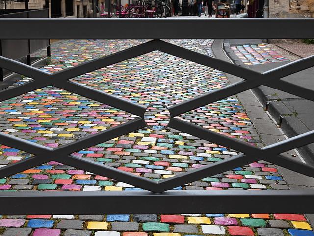 Des pavés colorés à Reims