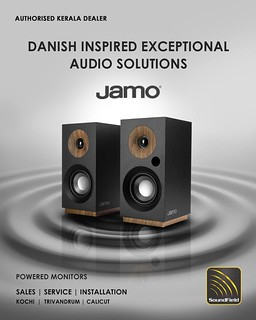 Experience Jamo's premium acoustic performance with modern design with SoundField in Kerala!