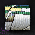"Beadwoven Bangle by Jenny Schu 2019  <a href=""http://jennyschu.blogspot.com/2019/06/hope-flows-bangle-1-and-earrings.html"" rel=""noreferrer nofollow"">jennyschu.blogspot.com/2019/06/hope-flows-bangle-1-and-ea...</a>"