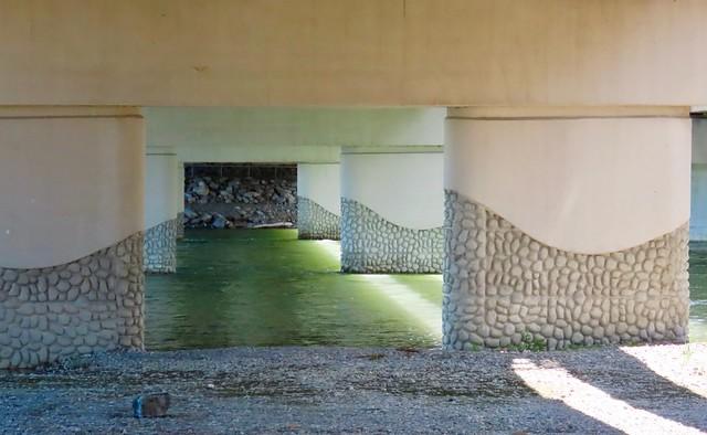 Under a Calgary bridge