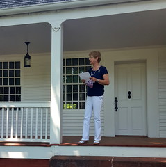 Rep. Zawistowski participated in the annual Declaration of Independence reading at Phelps Hatheway House & Garden in Suffield.
