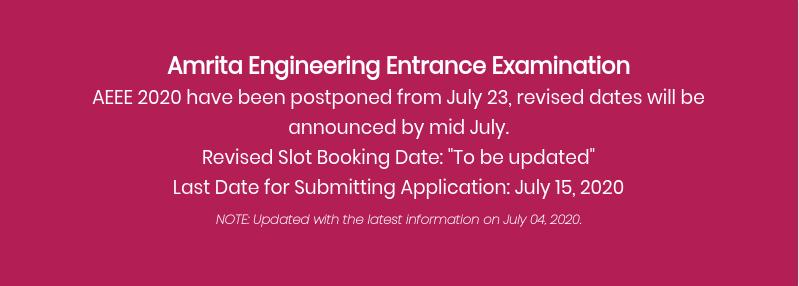 aeee 2020 AEEE 2020 (Postponed Again) - Last Date to Apply (15 July), Exam Date, Syllabus, Exam Pattern
