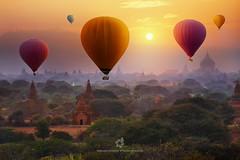 Ballooning Experience In Bagan, Myanmar