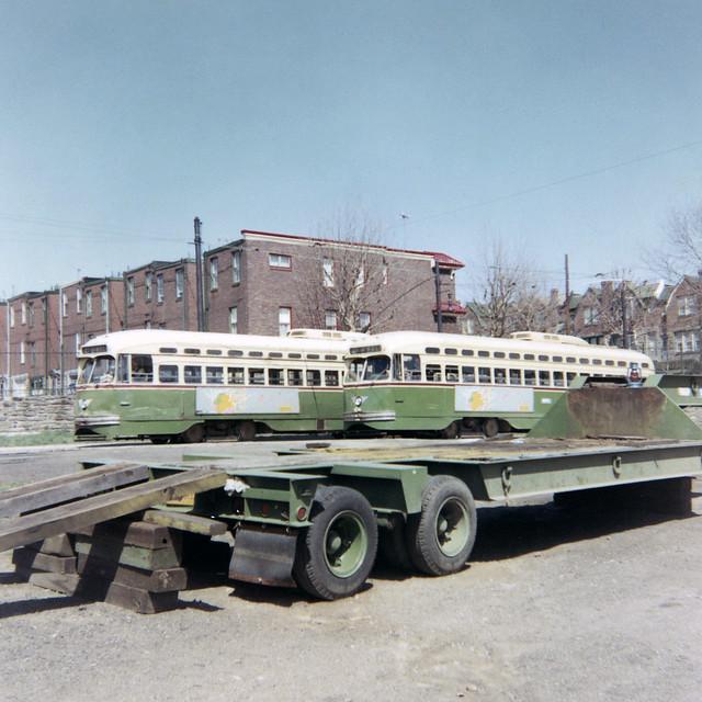 US PA Philadelphia SEPTA-PTC PCC 2116 5th-Godfrey Rt. 47-Godfrey:Wolf  4-11-1969 Roberta Hill Photo (13449)
