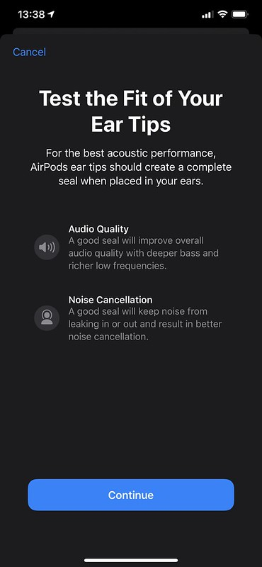 Apple AirPods Pro - iOS - Ear Tips Fit Test