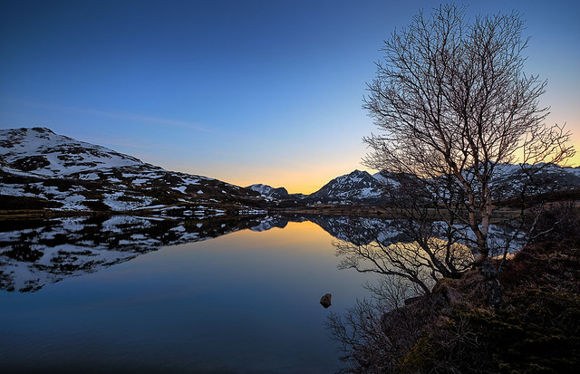 About midnight, Norway