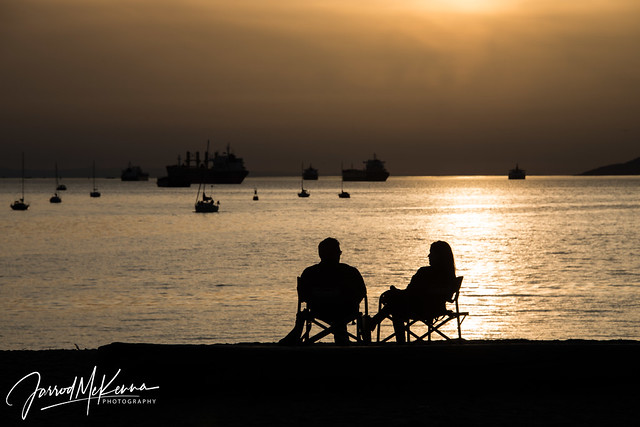 Summertime Silhouette at English Bay