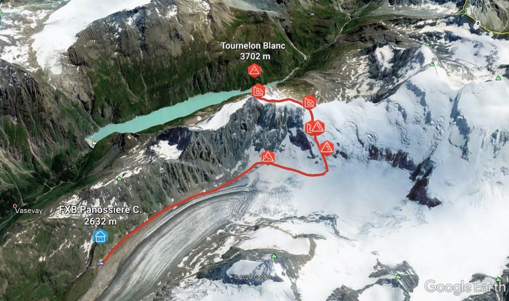 Tournelon Blanc - Cab. Panossiére Walliser Alpen / Alpes valaisannes Schweiz foto 01