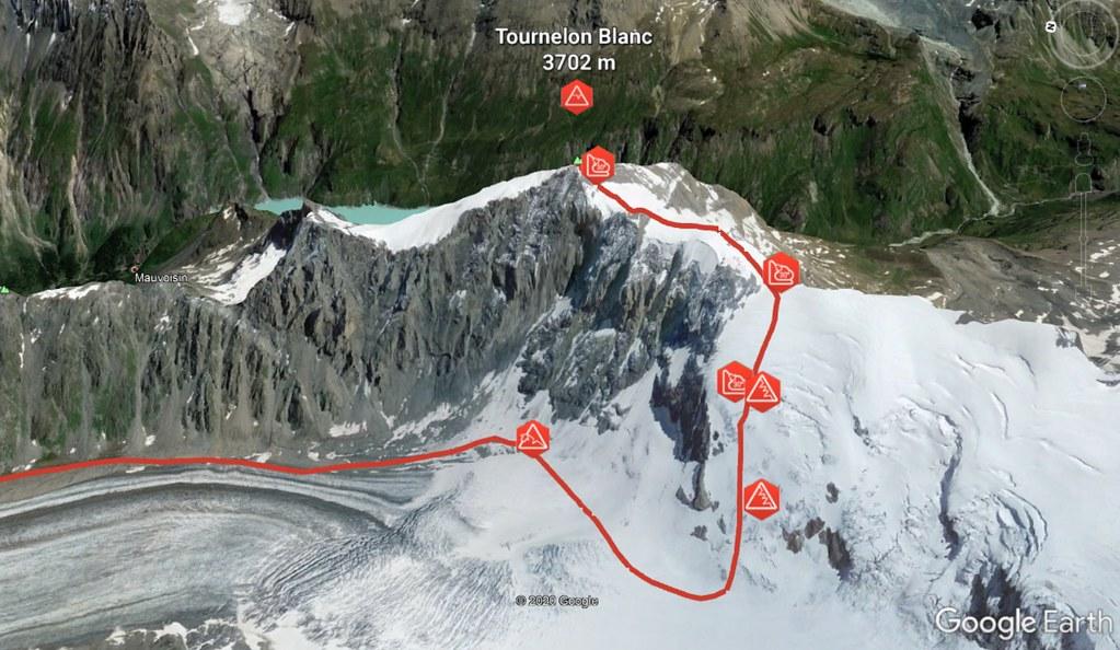 Tournelon Blanc - Cab. Panossiére Walliser Alpen / Alpes valaisannes Schweiz foto 02