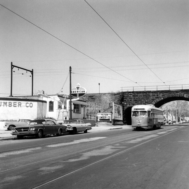 US PA Philadelphia SEPTA-PTC PCC 2116 5th-Delphine Rt. 47-Godfrey:Wolf  4-11-1969 Roberta Hill Photo (13450)