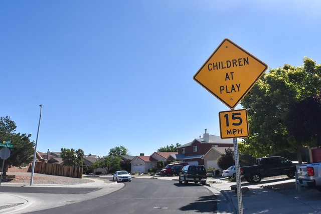 District 5 Children at Play Signs