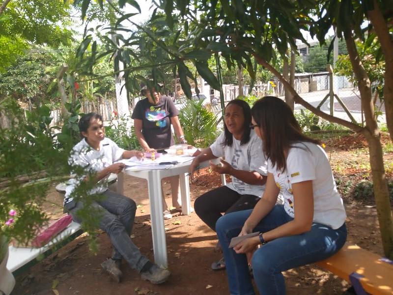 Visita ao espaço Mulheres do Gau (Grupo de Agricultura Urbana) em União de Vila Nova, Maio de 2019
