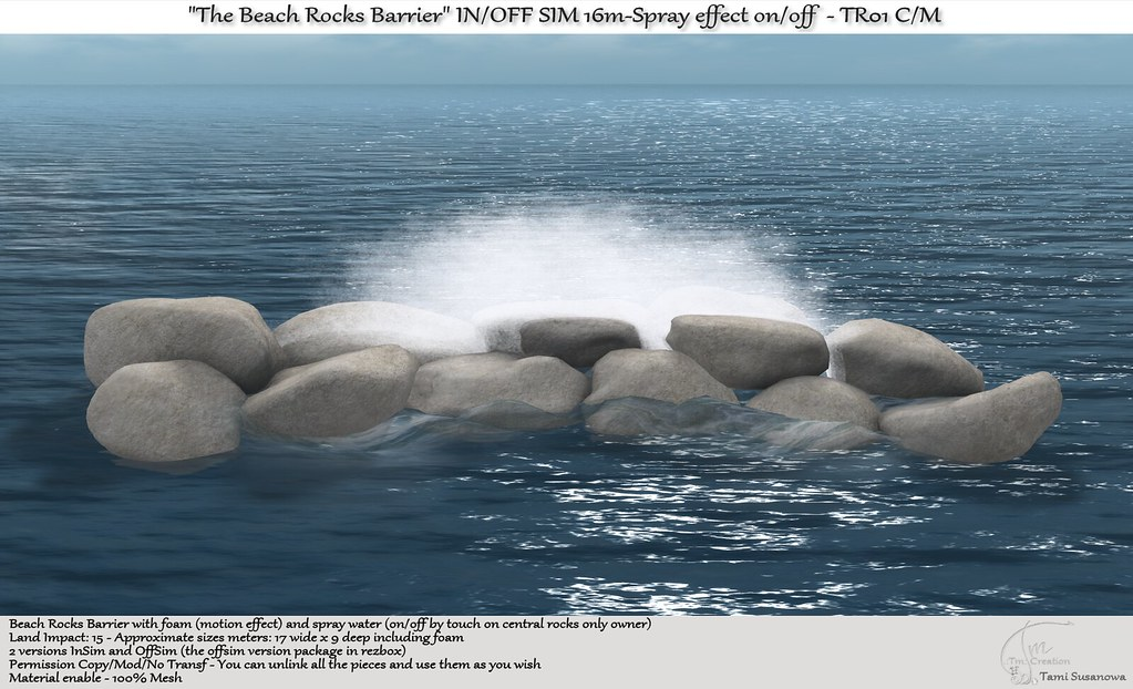 ".:Tm:.Creation ""The Beach Rocks Barrier"" OFF/IN SIM TR01"