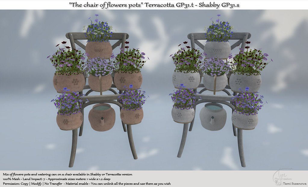 ".:Tm:.Creation ""The chair of flowers pots"" GP31"