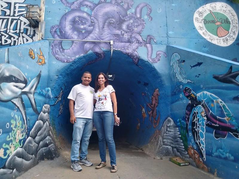 Túnel de União que liga as ruas Papiro do Egito e avenida Assis Ribeiro -  União Vila Nova - Thomaz Martins e Miriam Magdala, Maio de 2019