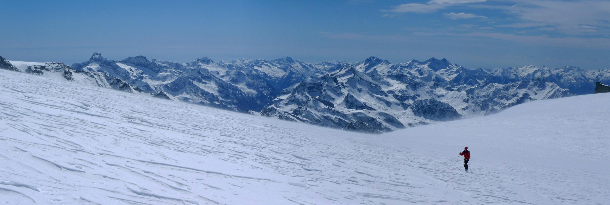 Breithorn - Zermatt Walliser Alpen / Alpes valaisannes Švýcarsko panorama 15