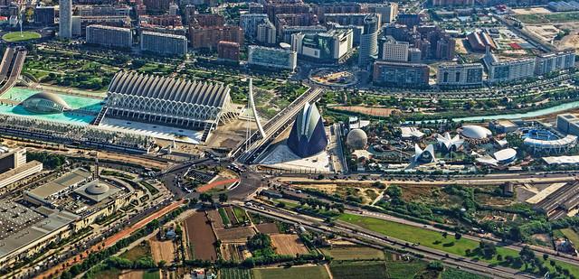 Modern Valencia ( The Arts & Science Area from Above) Panasonic Lumix LX15