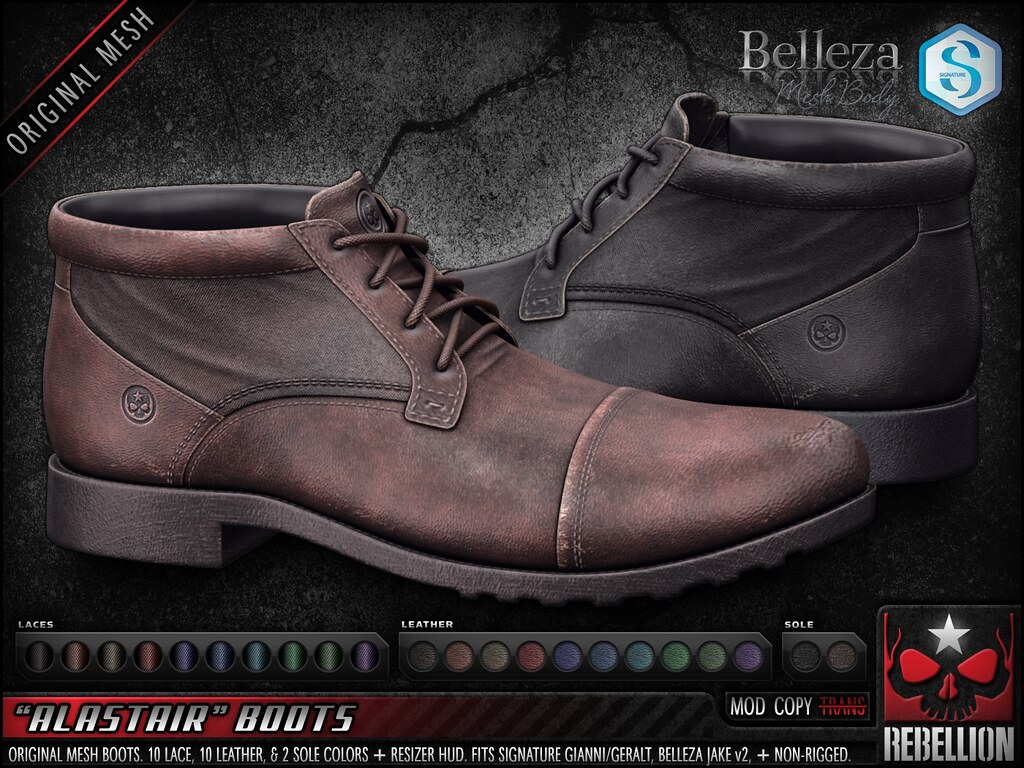 "= REBELLION = ""ALASTAIR"" BOOTS"