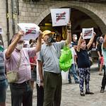 Sisè acte presencial a la plaça del Vi després del confinament provocat per la COVID19 - Girona