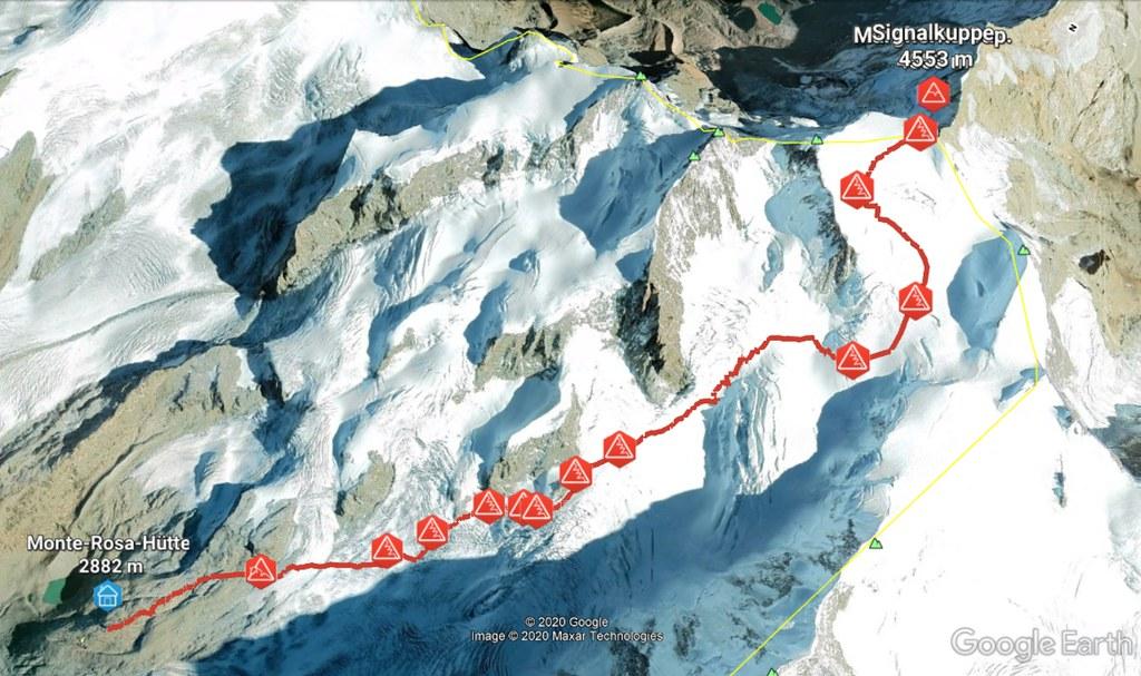 Signalkuppe / Punta Gnifetti Walliser Alpen / Alpes valaisannes Switzerland photo 06